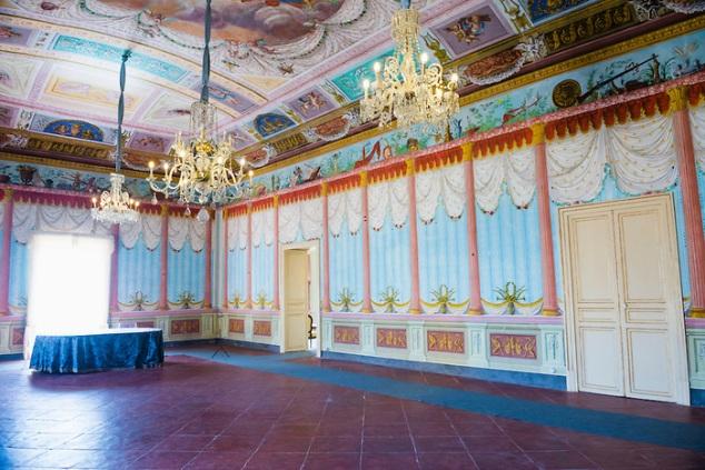 Noto, interior of Palazzo Nicolaci di Villadorata, Noto, Sicily, Italy, Europe
